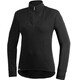 Woolpower Zip Turtleneck 200 merino ondergoed zwart